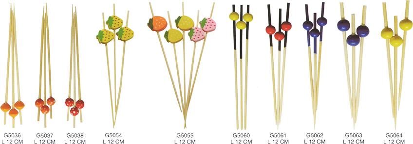 裝飾珠串-飾串竹串/竹籤/竹叉3