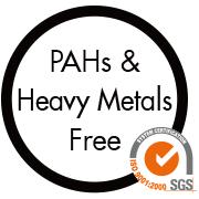 經SGS檢驗,不含重金屬、炭化毒物